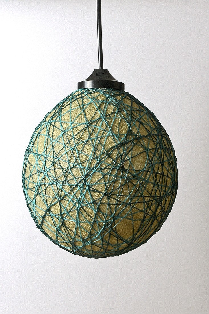 Mini Bubble lampshade  lamp Beige Green by FiligreeCreations from etsy.com