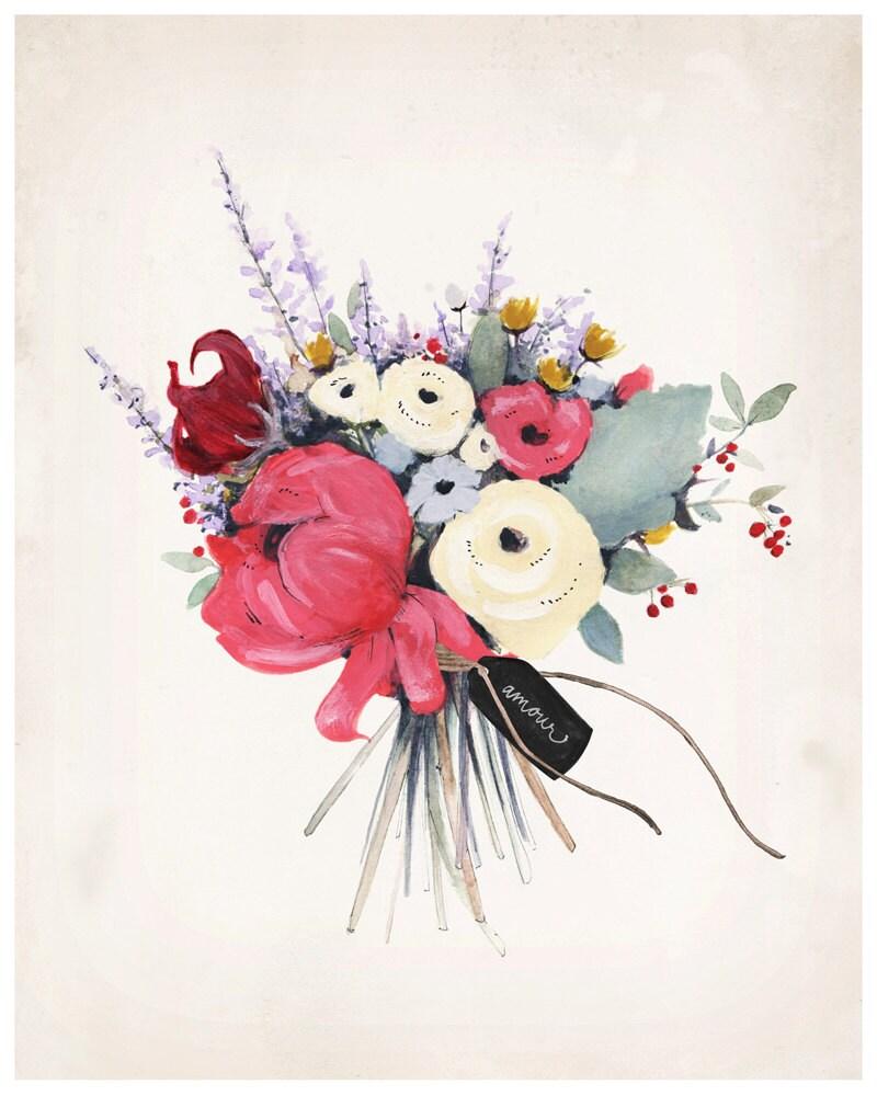 Wildflowers Print - 8X10