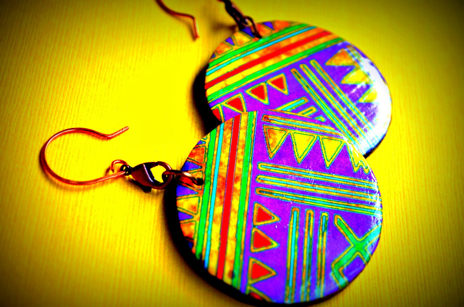 Tribal Brights - Reversible Earrings - Kezzmit