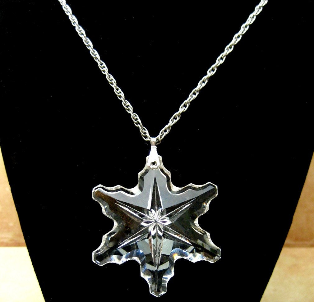 Christmas Snowflake Reclaimed Necklace Jewelry