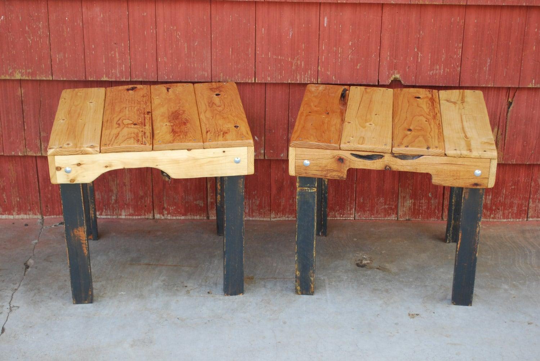 Pallet Wood Side Tables Handmade - PJsFurniture