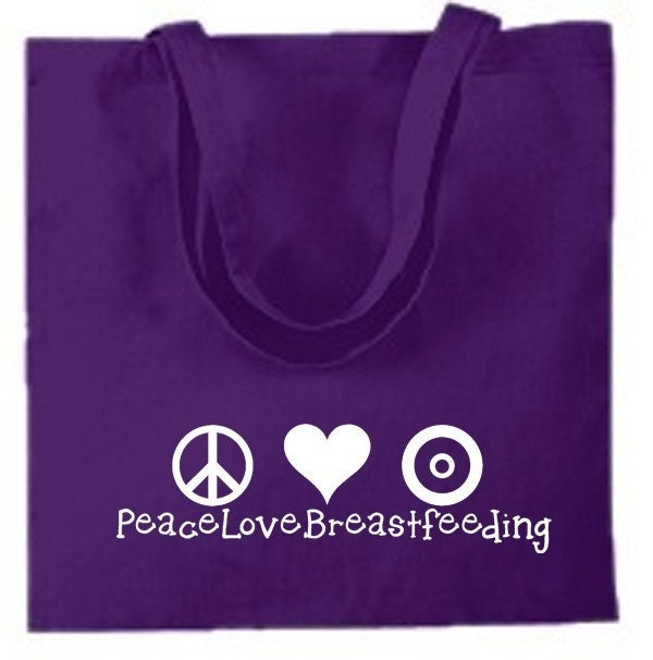 Cotton Tote Peace Love Breastfeeding