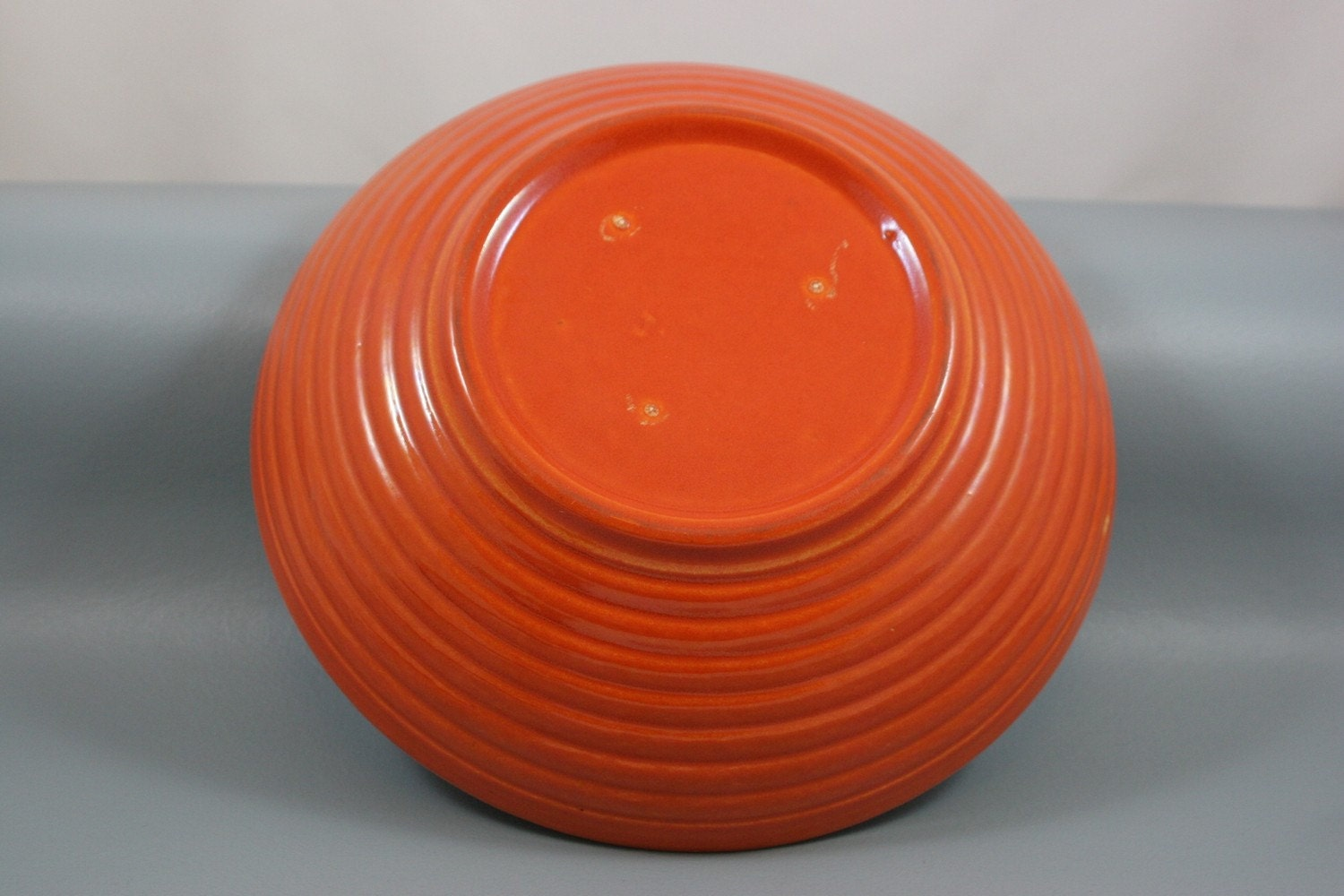 Orange ringware Bowl