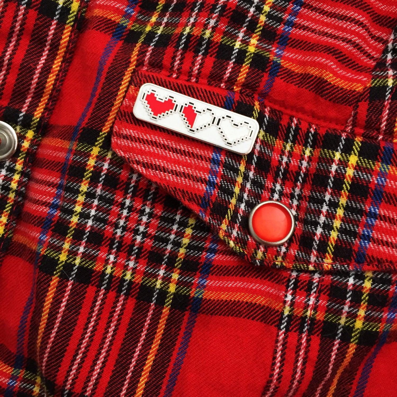 Heart Container Enamel Pin Badge  Zelda Pin  Geek Badge  Lapel Pin