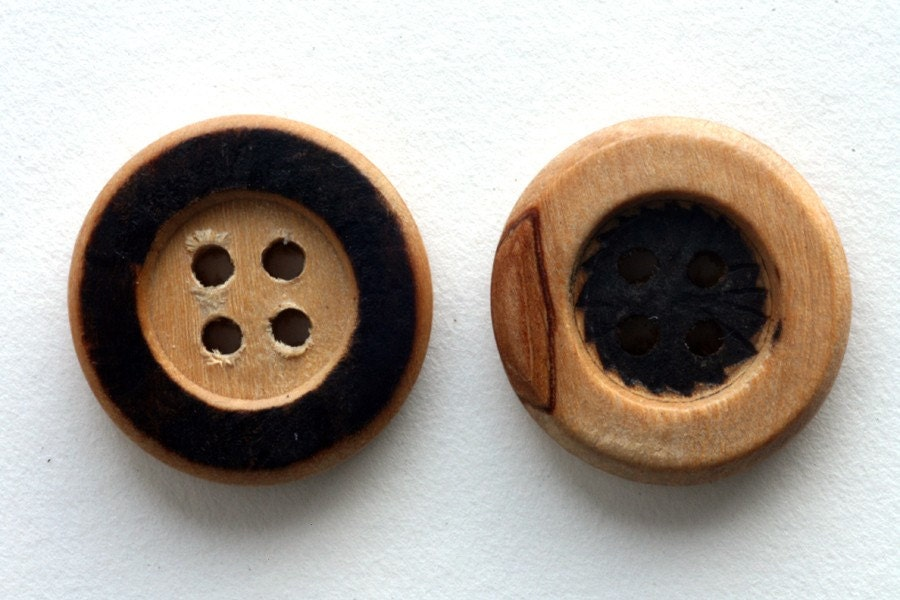 Contrasts, 3/4 inch Wooden Buttons
