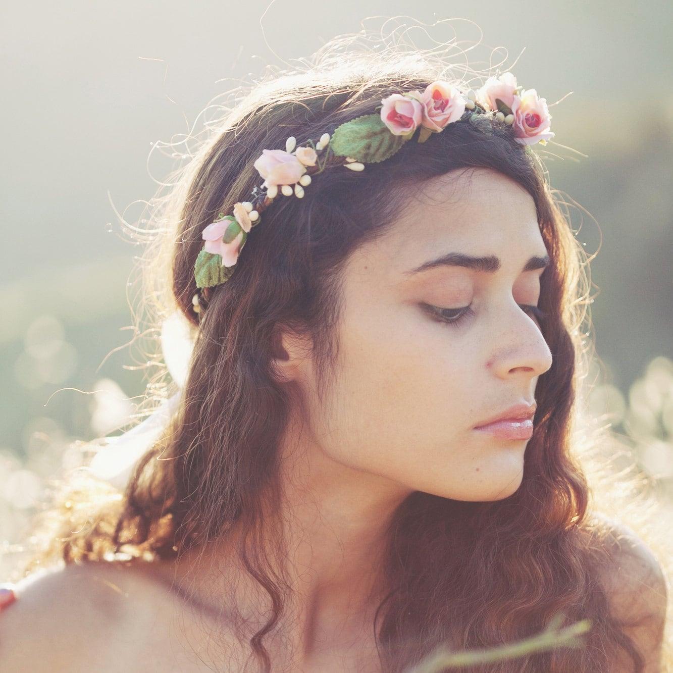 flower crown 'SECRET GARDEN' wedding accessory, bridal hair