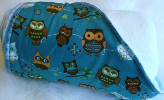 Baby Owls Bamboo Hooded Baby Towel