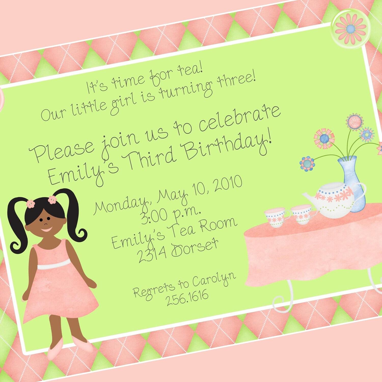 Tea Party Invitations Wording High Tea Invitation Wording Vintage – Tea Party Invitations for Kids