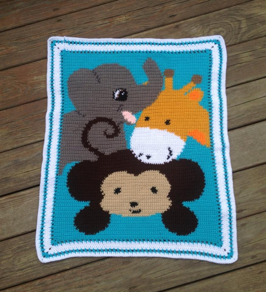 Baby Zoo Afghan Crochet Pattern : Unavailable Listing on Etsy