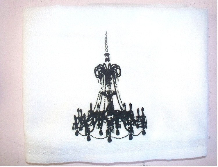 CHANDELIER KITCHEN TEA TOWEL - professionally printed - PARIS CHIC COLLECTION