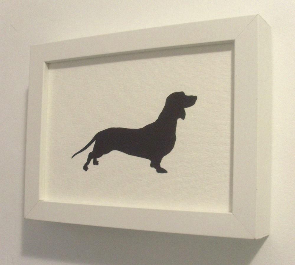 Custom Dog Silhouette Portrait