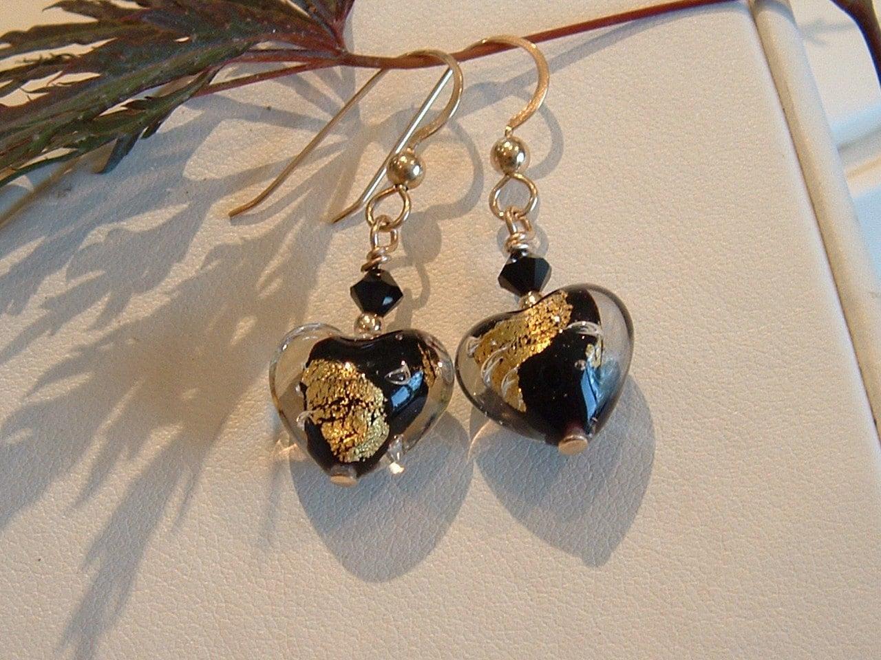 Splash Heart Earrings