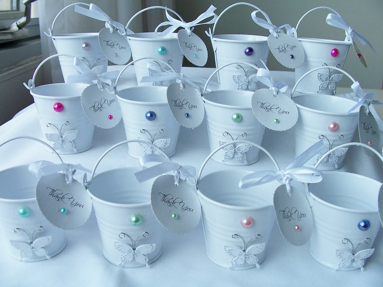 12 Elegant metal miniature keepsake buckets by ...