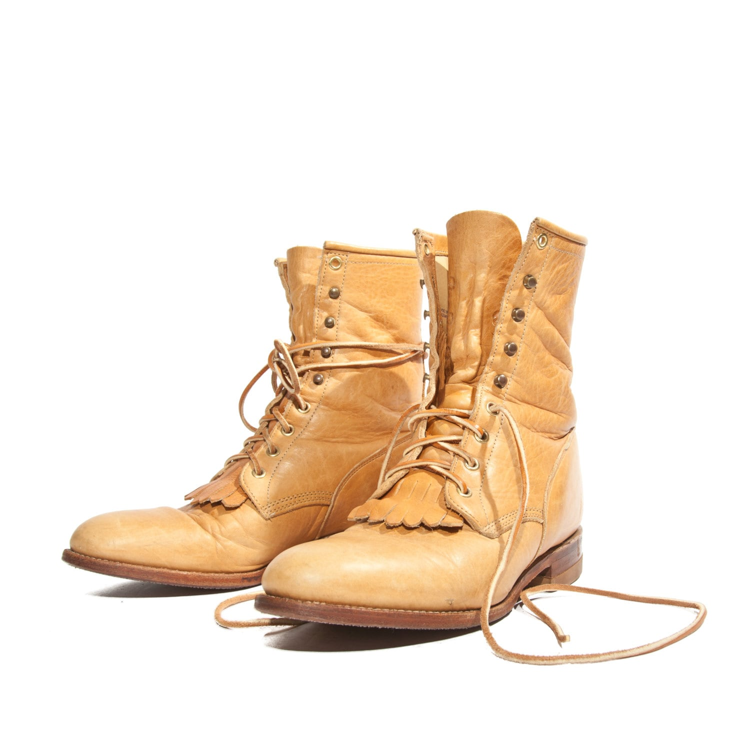 all leather s boots lace up justin roper brown by