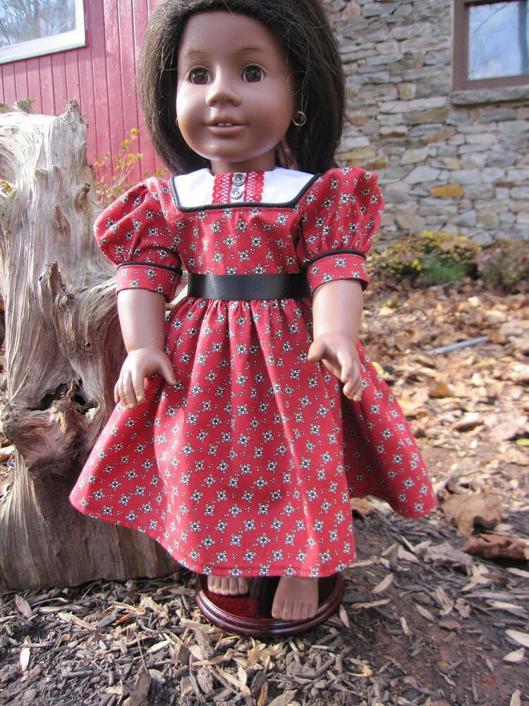 "Addy's Holiday Dress-fits 18"" American Girl Doll Addy"