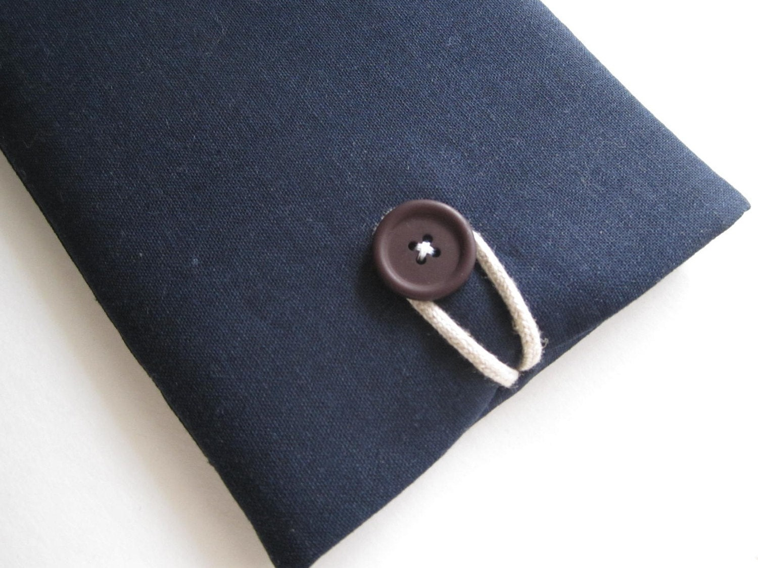 Kindle or Custom eReader Sleeve Case Padded Cover - Blue Linen