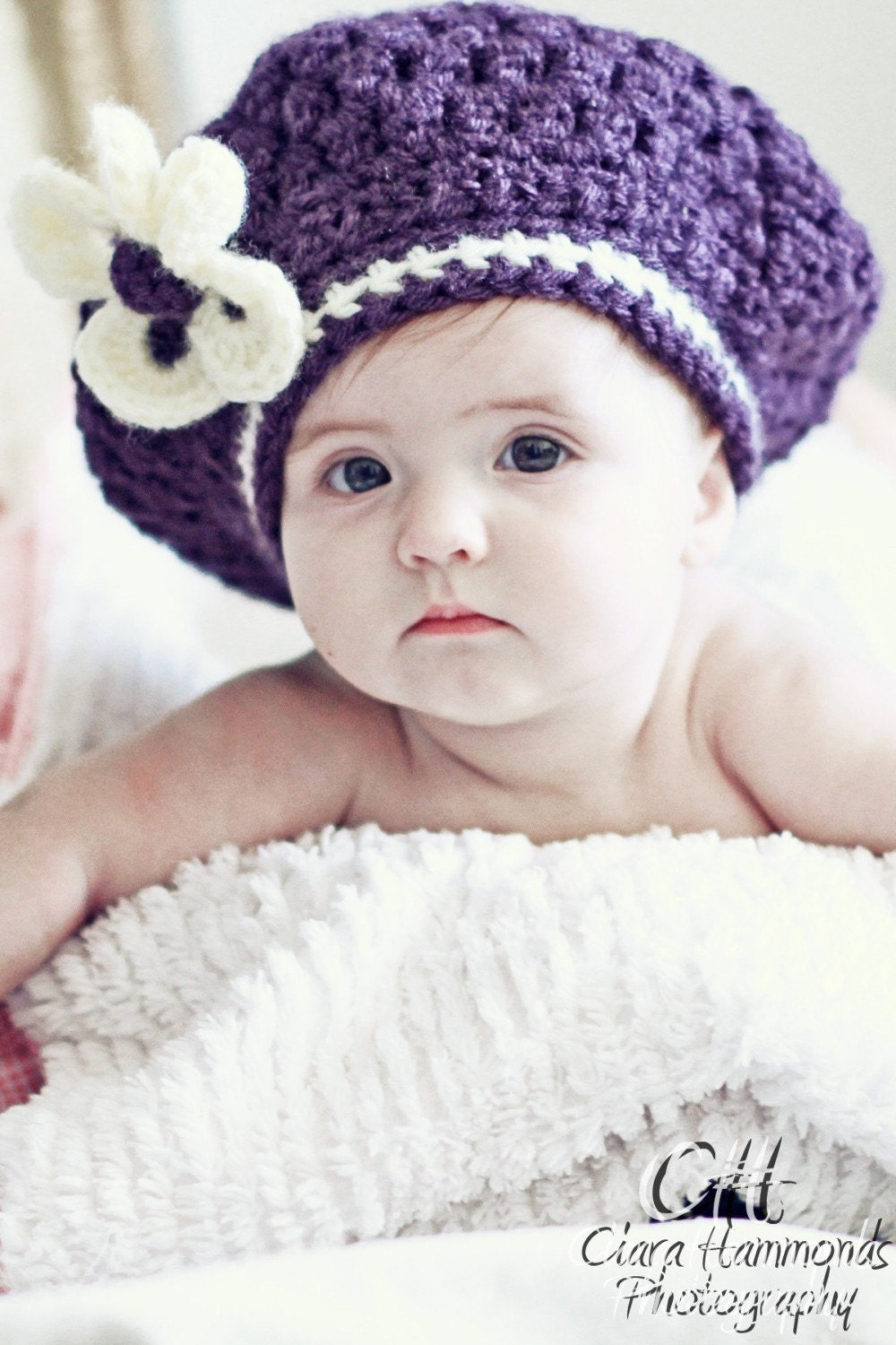 The Sunroom: Baby's Ribbed Beret Crochet Pattern