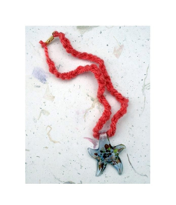 Glass Star Necklace