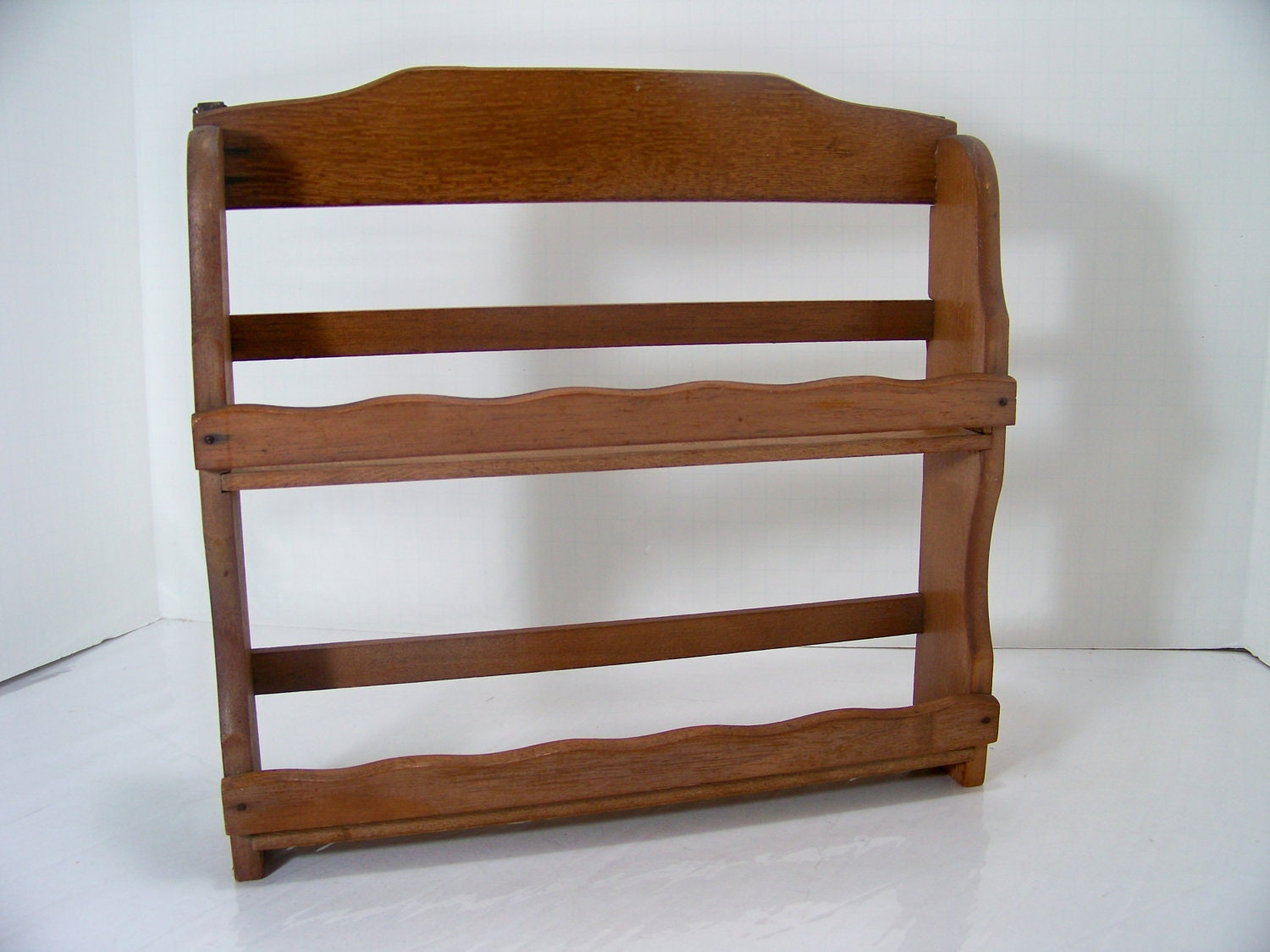 Superb img of Vintage Wood Spice Rack Kitchen Shelf by SmakBoutique on Etsy with #432414 color and 1500x1125 pixels
