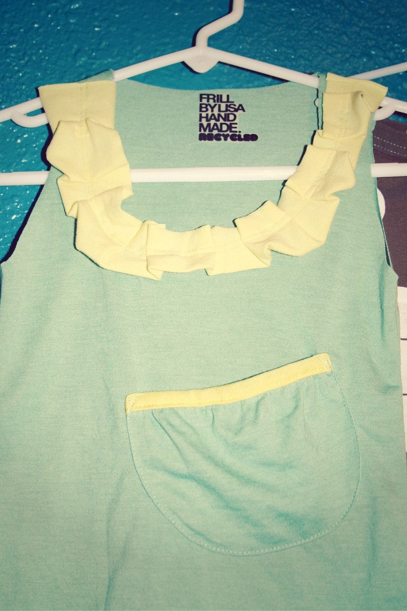 Little Recycled Girl Tank Top
