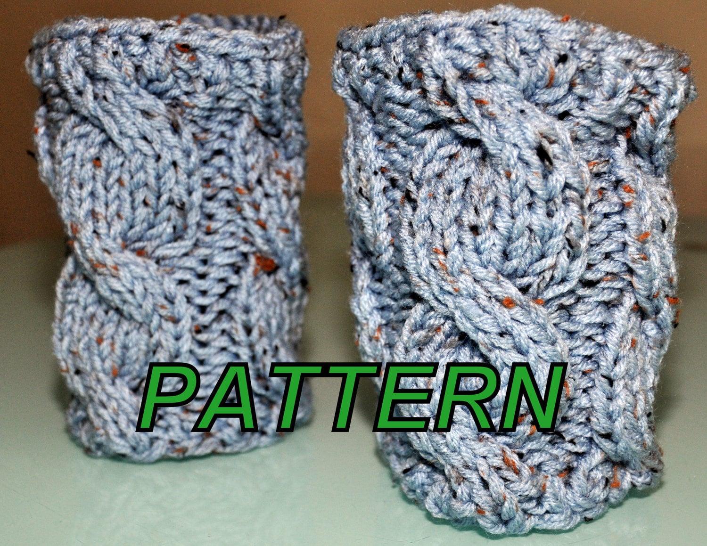 Knitting Pattern For Leg Socks : BOOT Tops Cuffs Socks Leg Warmers Pattern PDF Cabled by ...