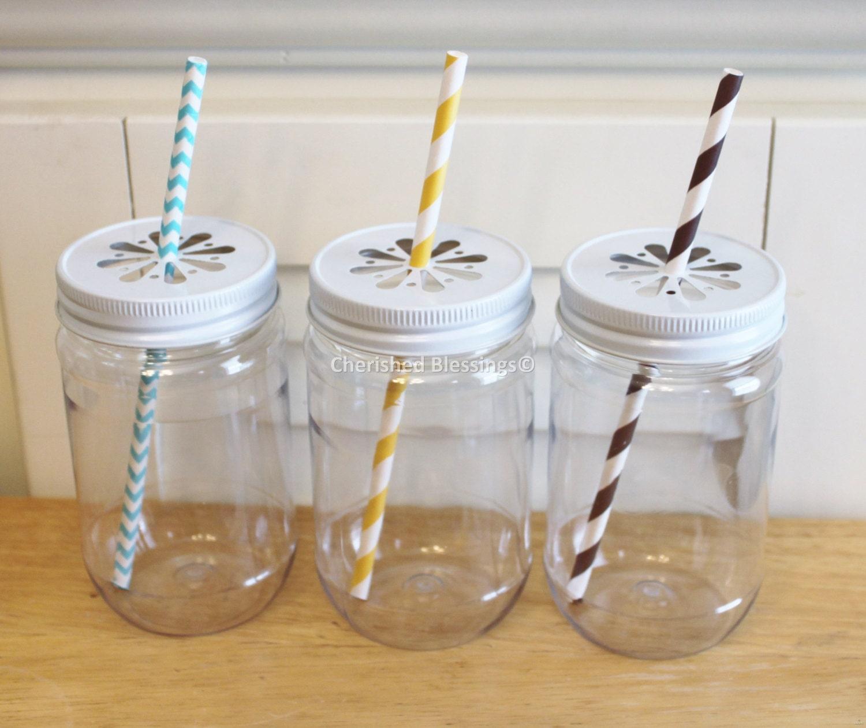 plastic mason jars 10 plastic jars mason jar by cherishedblessings