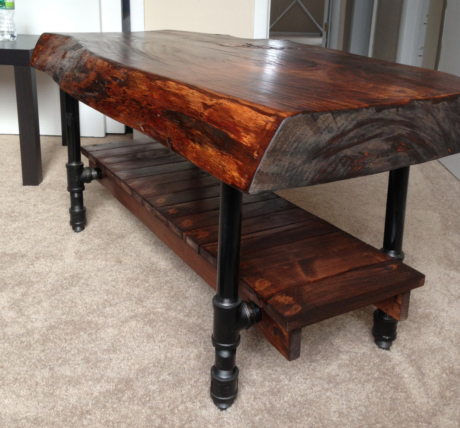 Pine Coffee Table With Turned Legs: Items Similar To Natural Pine Coffee Table With Custom
