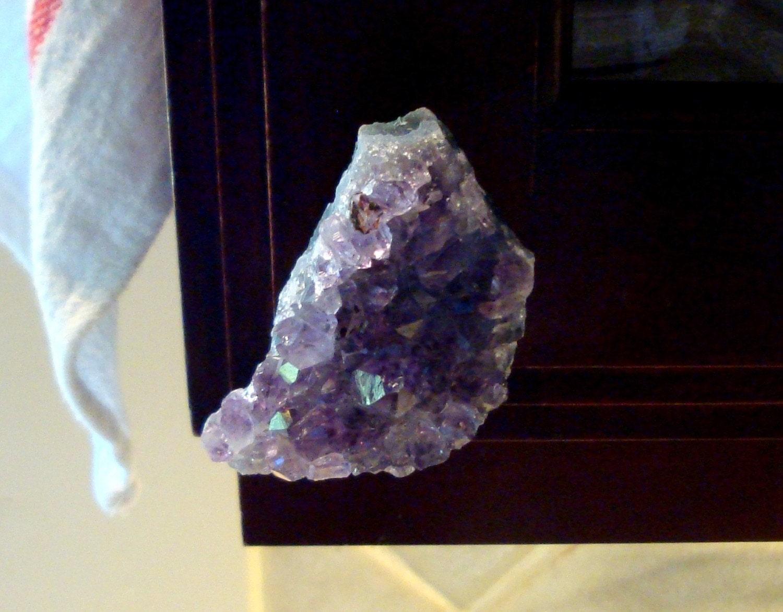 Amethyst Crystal Cabinet Knob Drawer Pull Furniture