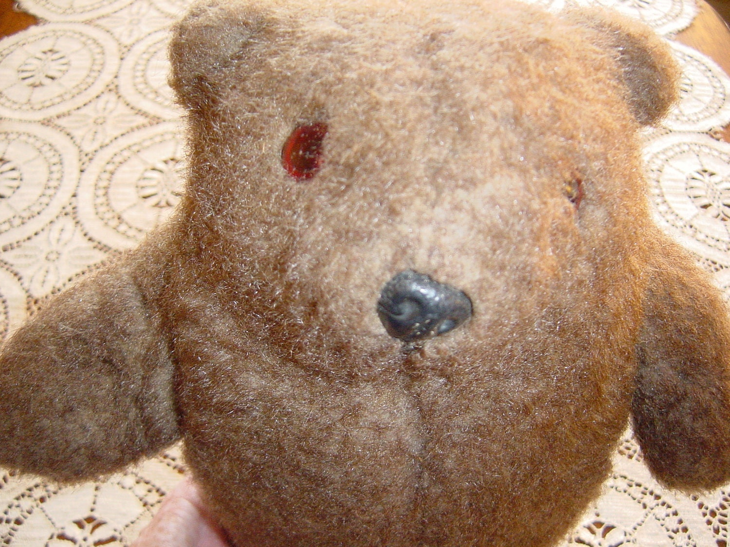 Vintage Antique Stuffed Brown Bear