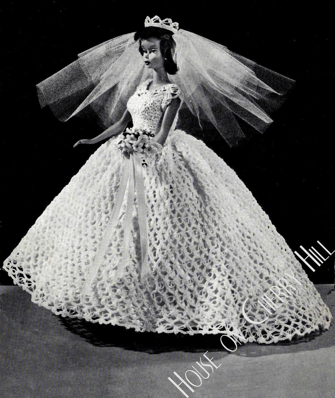 Barbie wedding dress crochet pattern barbie by for Wedding dress patterns free download
