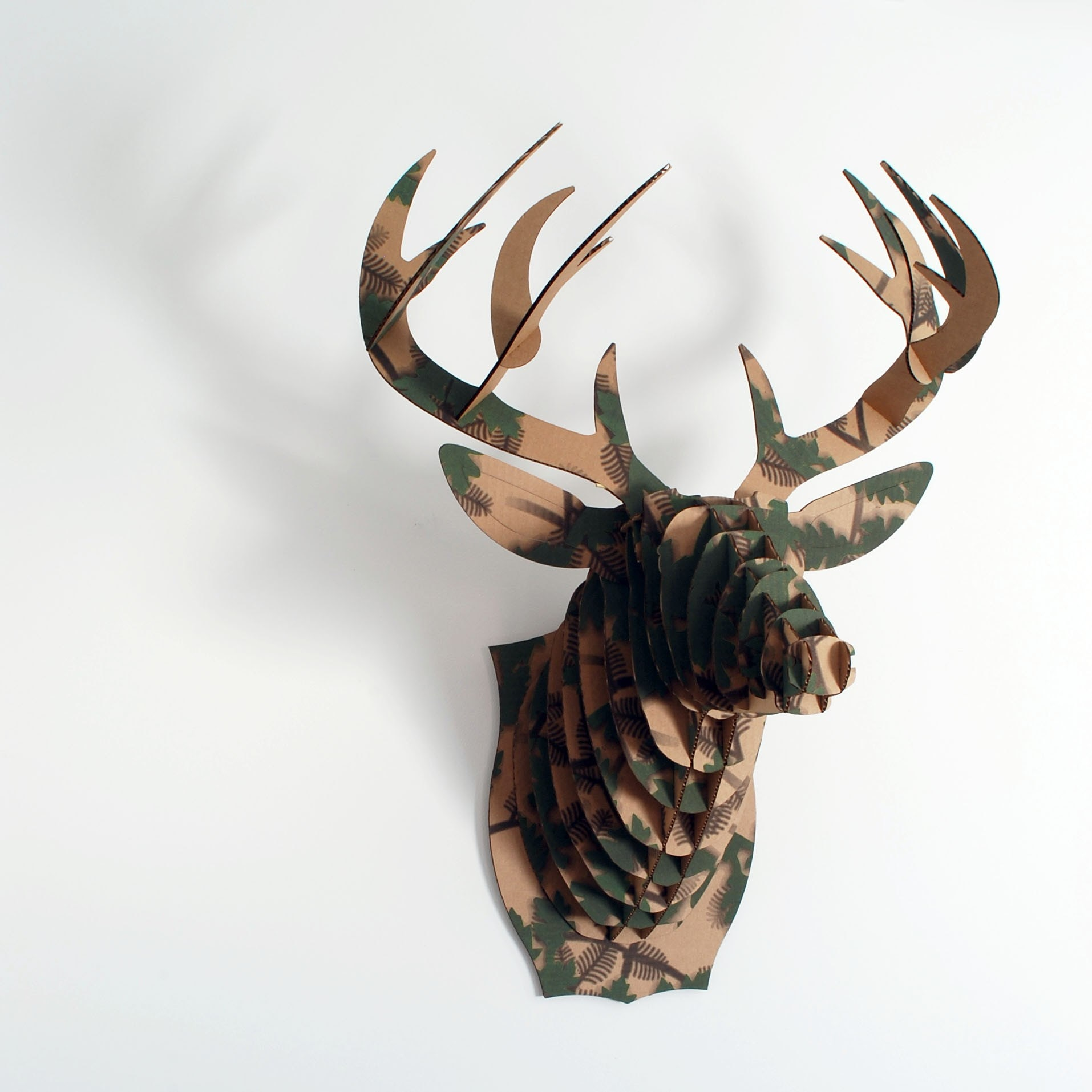 Голова оленя своими руками картон