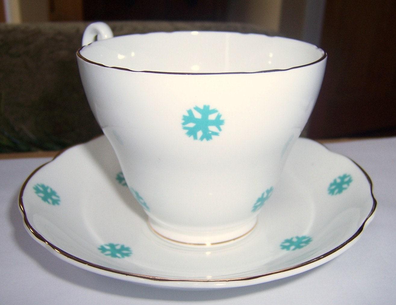 Royal Ascot Vintage china xícara de chá e pires