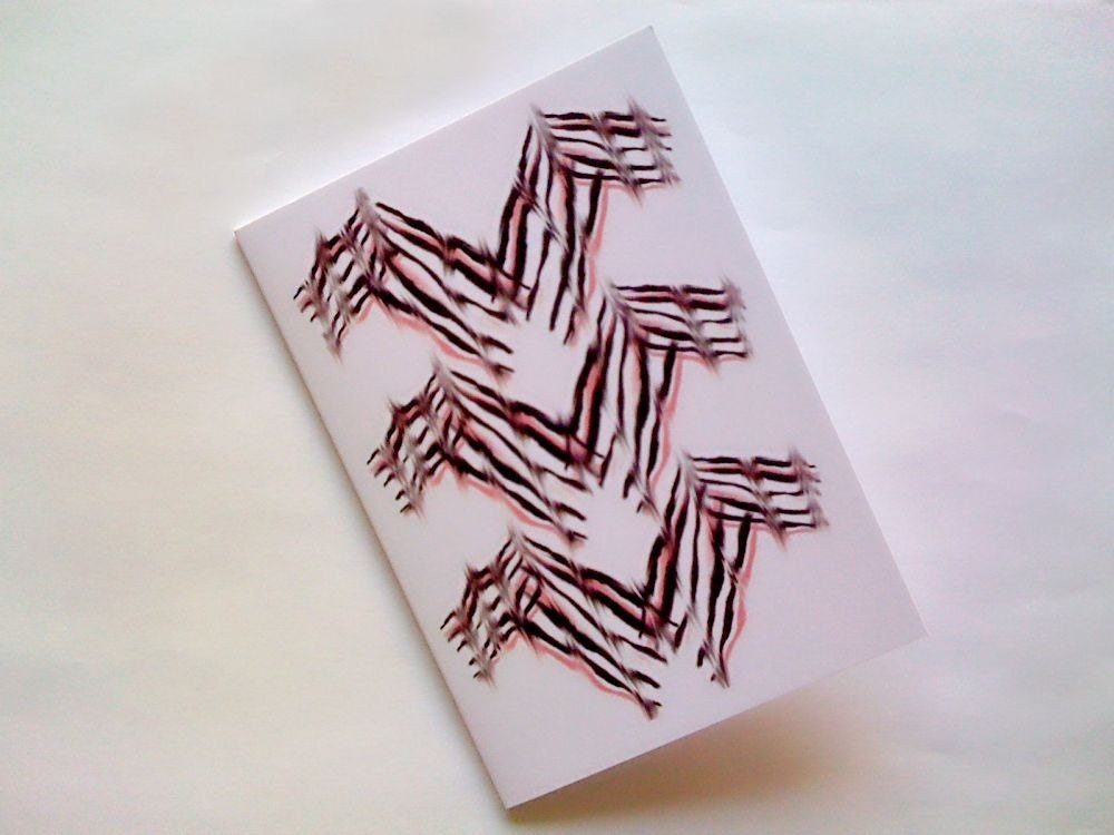 Brush Strokes Smudged Note Card