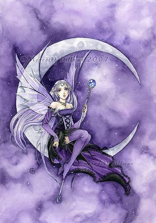 8x10 print - Purple Moon