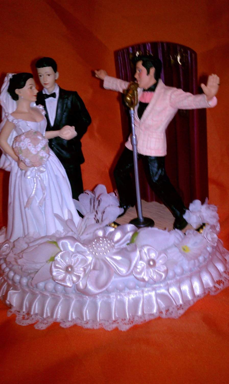 Elvis Wedding Cake Topper Musical In Love And All Shook By Cinhol