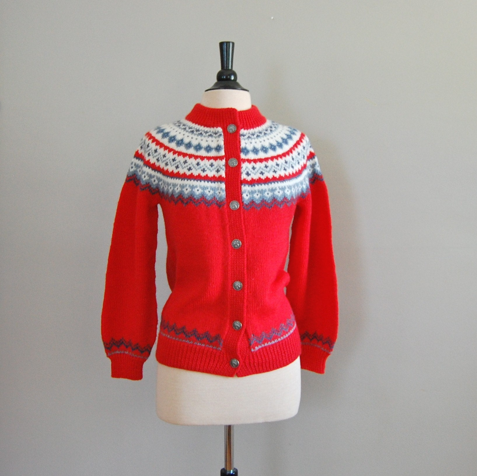 vintage 1960s MARASCHINO Fair Isle Sweater