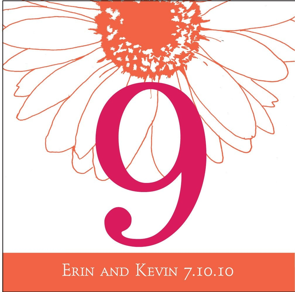 Wedding / Event Table Numbers - reserved for een128