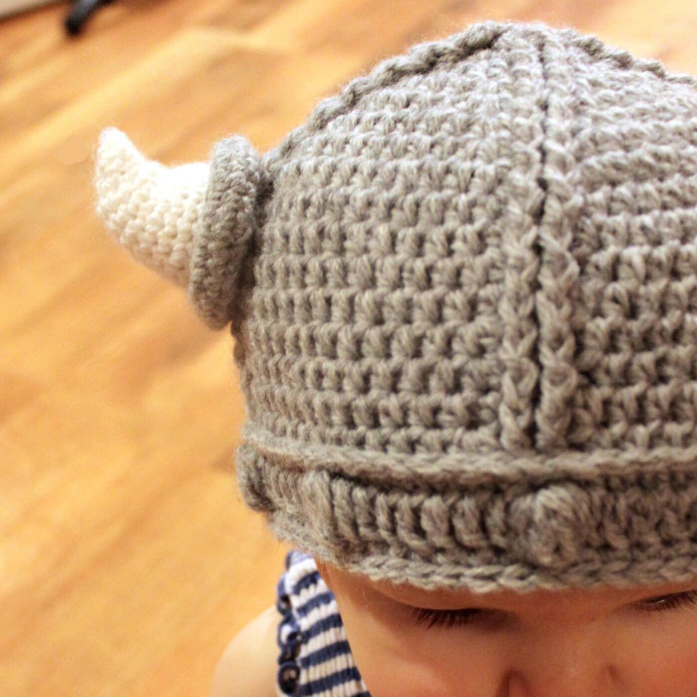 Instant Download - Crochet Pattern - Lael Viking Hat ...