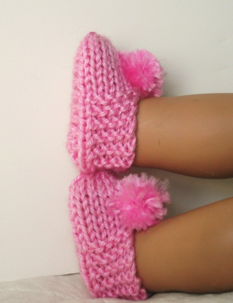 American Girl Doll Slippers, knitted bootie