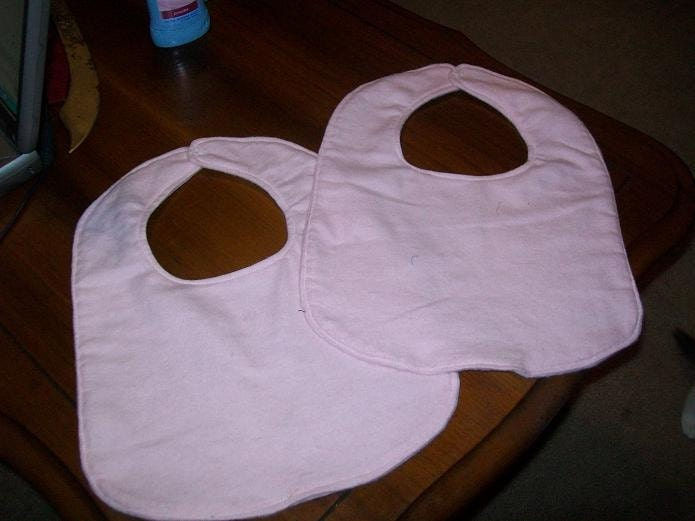 Baby Bibs in Pink  Set of 2