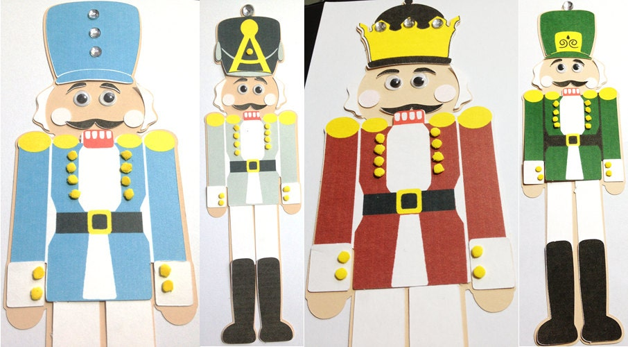 Paper nutcracker craft kit for kids christmas and holidays - mimiscraftshack