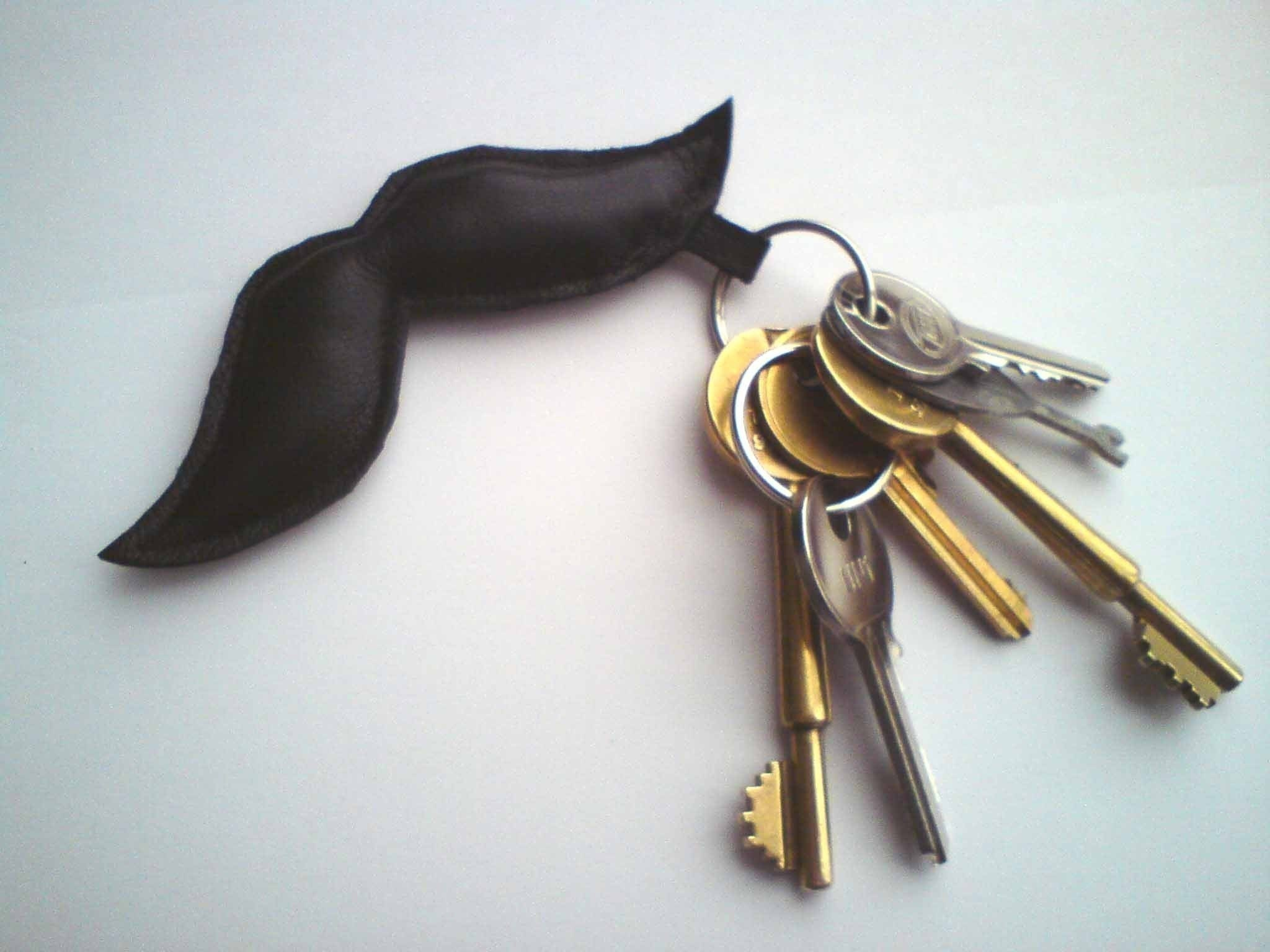 Moustache Keychain - Black