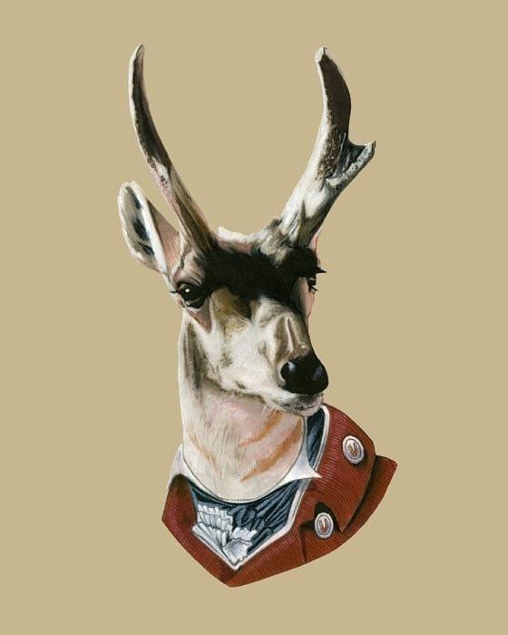 Buck print 8x10