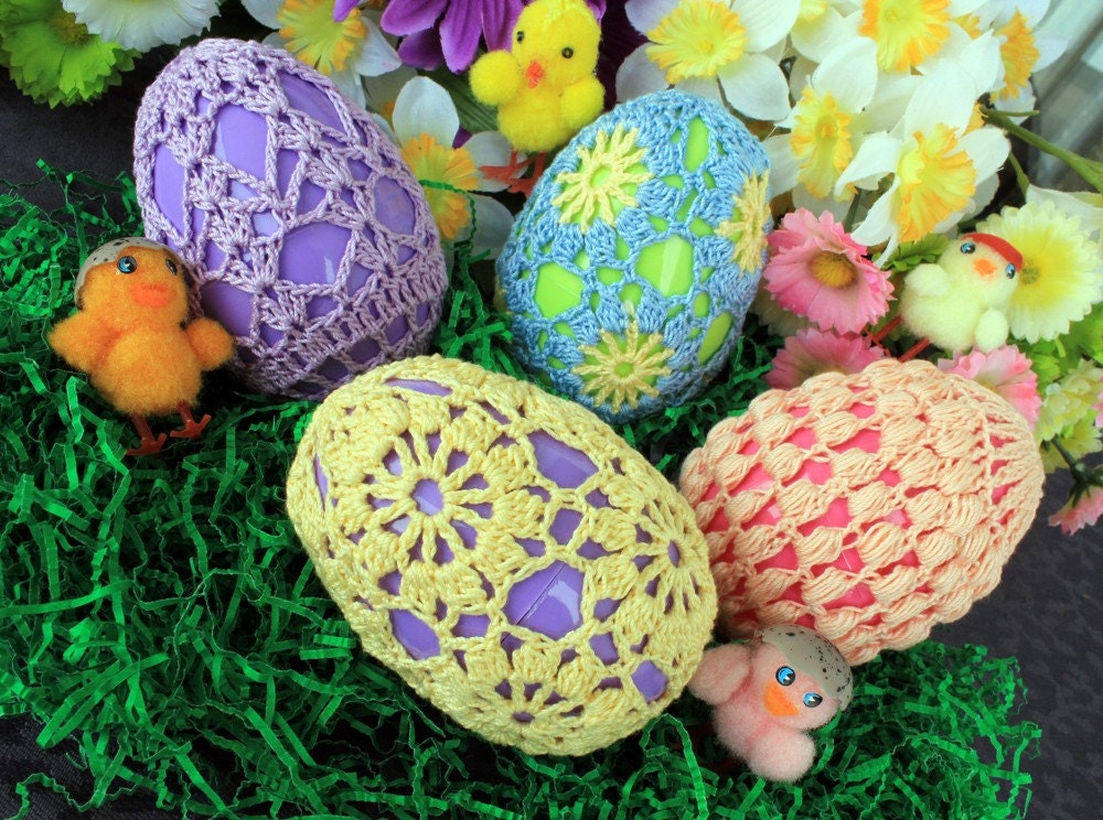 Crocheting Easter Eggs : Crochet Easter Eggs Set 2 by DoilyMania on Etsy Craftjuice Handmade ...