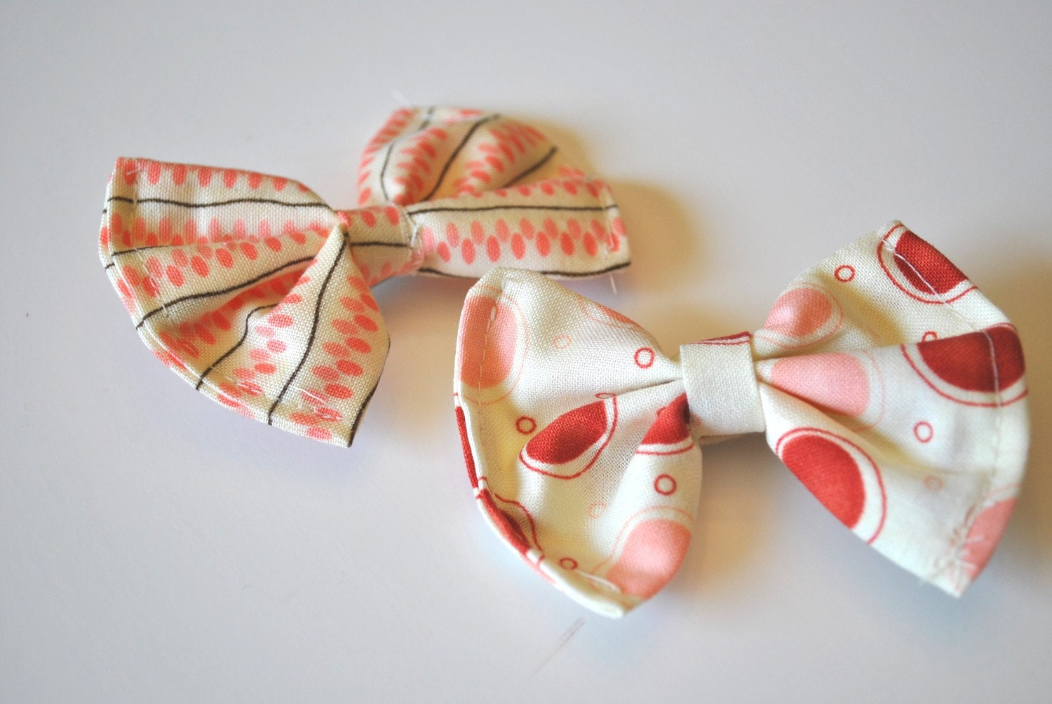 Bow Hair Clips- berry