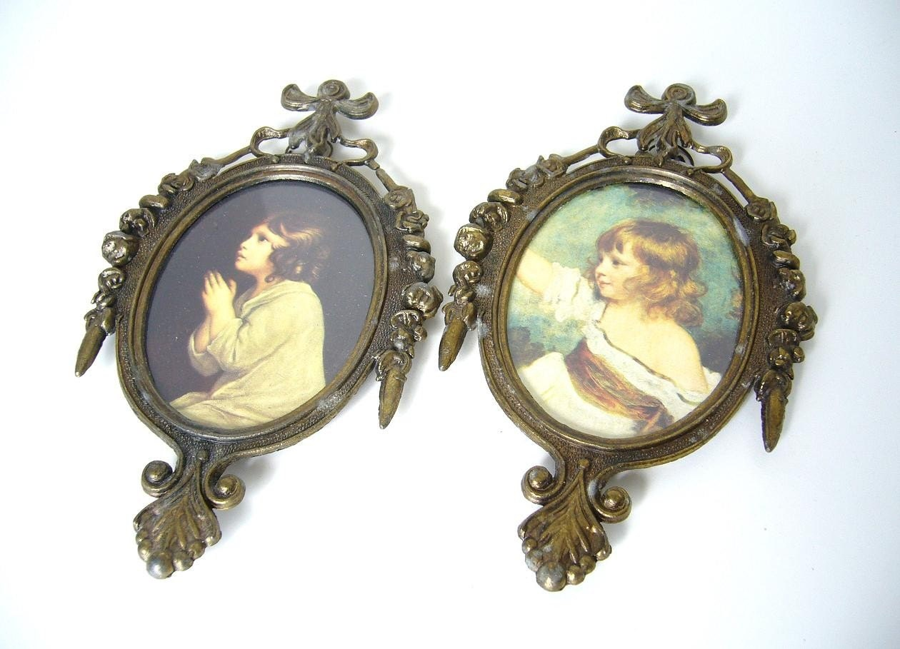 Vintage Italian Metal Picture Frames By Monichelles On Etsy