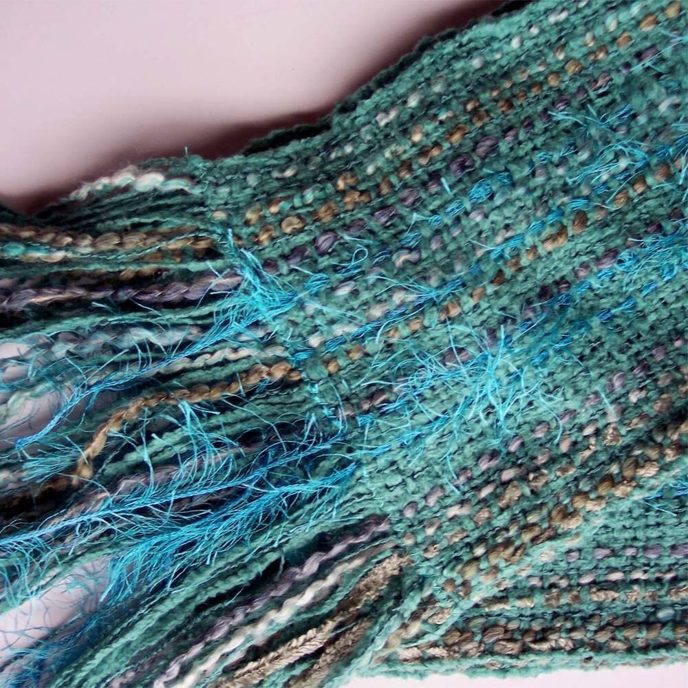 Turquoise Eyelash Scarf