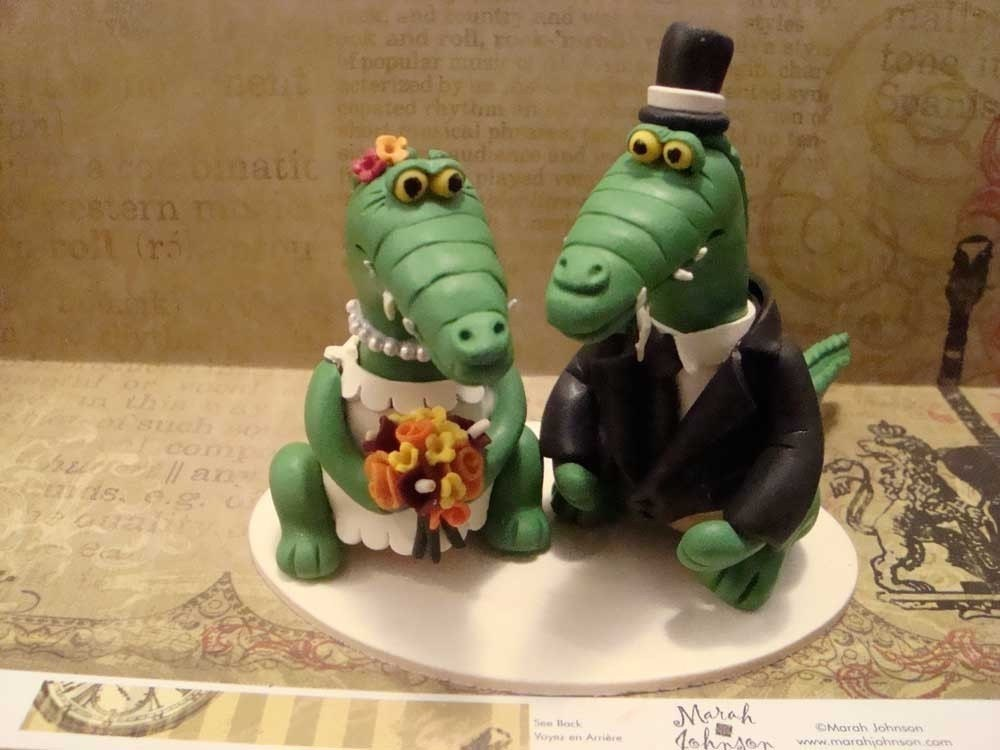 animal cake topper custom made from polymer clay