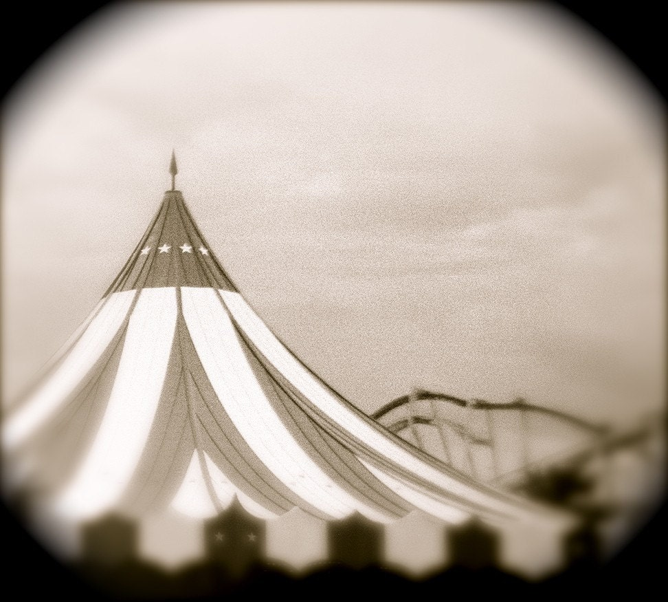 Items similar to INSPIRED- circus tent with stripes in ...