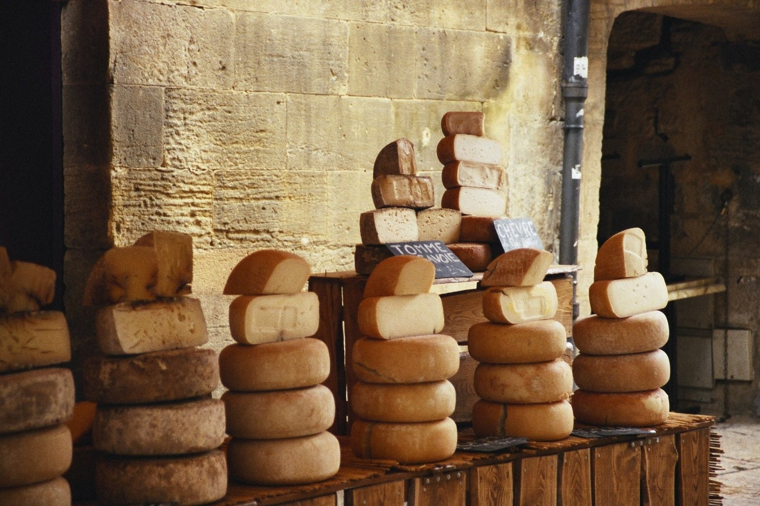 La Fromagerie - for the love of cheese -  8x10 Fine Art Photo.  Artisan Cheese, South of France, Food Photography for home decor or kitchen.
